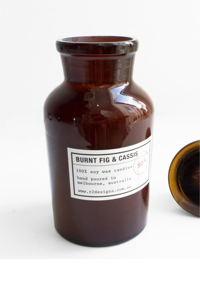 R2 Designs Apocathery Jar Candle | Burnt Fig & Cassis 250ml