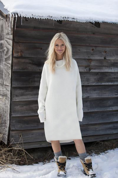 Horizontal Rib Tunic | Ivory - EXCLUSIVE SAMPLE