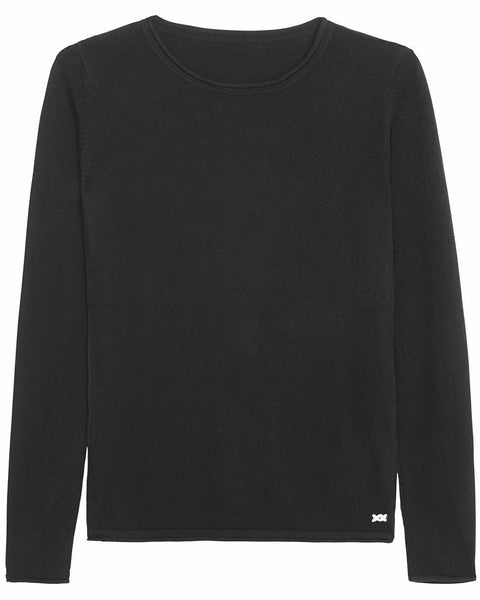 Surfer Crew Neck Sweater | Black