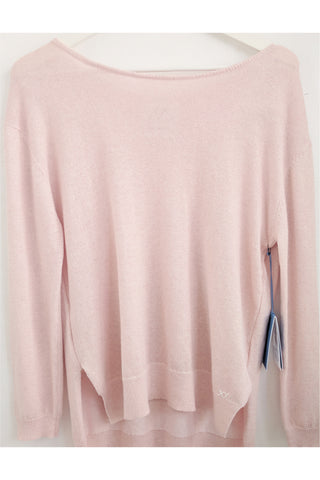 Layered Manhattan Crew Neck Jumper | Pink EXCLUSIVE SAMPLE