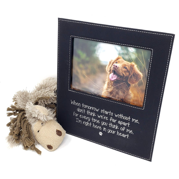 When tomorrow starts without me... I'm right here in your heart 5 x 7 leather picture frame