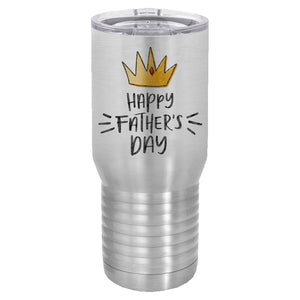 Happy Father's Day gold crown 20 oz tumbler