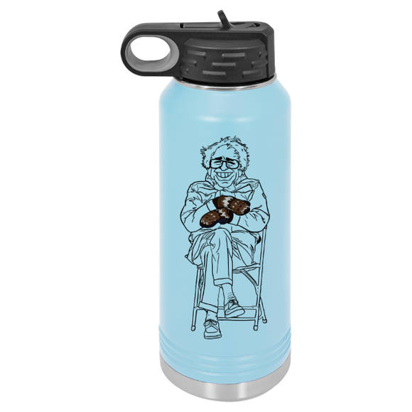 Bernie mittens 32 oz water bottle