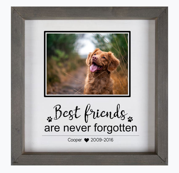 Best friends are never forgotten custom framed wood sign