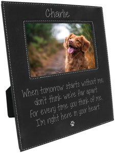 When tomorrow starts without me... personalized 5 x 7 leather picture frame