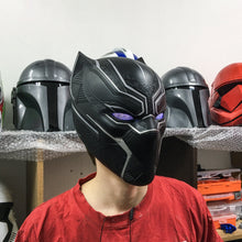 Load image into Gallery viewer, Black Panther Mask Cosplay Helmet - Cyber Craft