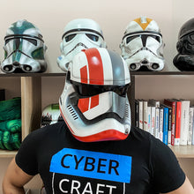 Load image into Gallery viewer, Star Wars First Order Stormtrooper Custom Helmet - Cyber Craft