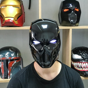 Black Red Hood Helmet Rebirth Mask - Cyber Craft