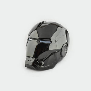 Black Iron Man Helmet - Cyber Craft