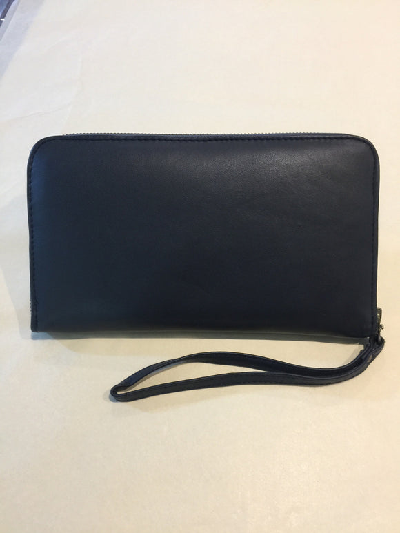Melissa Boys Leather Zip Around Clutch - Black