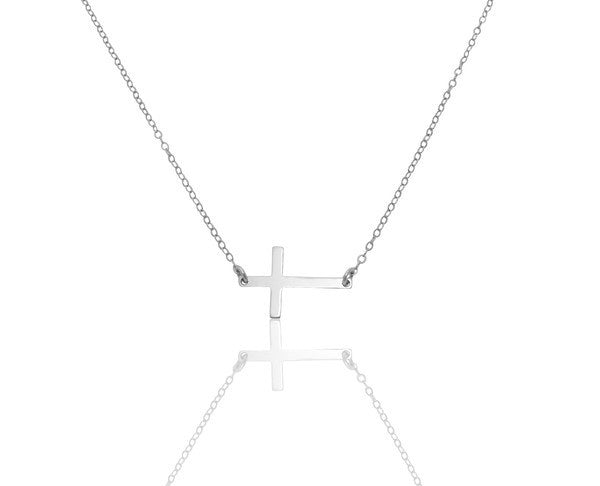 Misuzi Sideways Cross Necklace