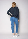 The Others Drop Crotch Pant  - Mid Blue