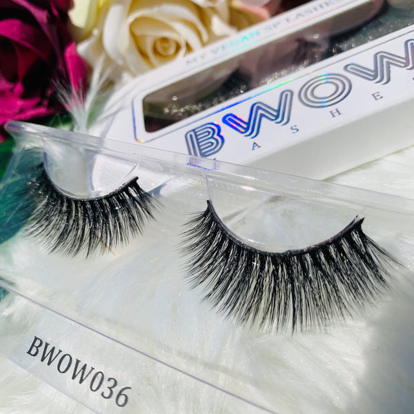 MY VEGAN SILK PROTEIN LASHES BWOW036 - BWOW Cosmetics