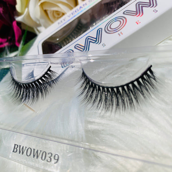 MY VEGAN SILK PROTEIN LASHES BWOW039 - BWOW Cosmetics