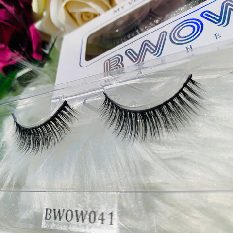 MY VEGAN SILK PROTEIN LASHES BWOW041 - BWOW Cosmetics