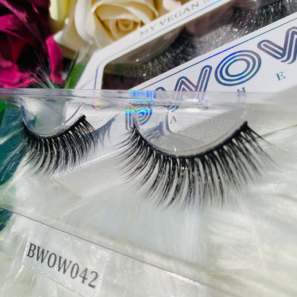 MY VEGAN SILK PROTEIN LASHES BWOW042 - BWOW Cosmetics