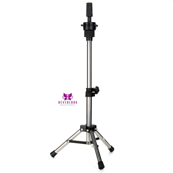 Adjustable Silver Aluminum Mannequin Head Tripod Stand Hairstyles Hairdressing