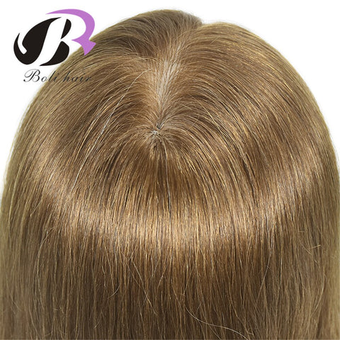 "55cm/21.65"" 100% Human Hair Mannequin Training Head Hairdressing Doll"