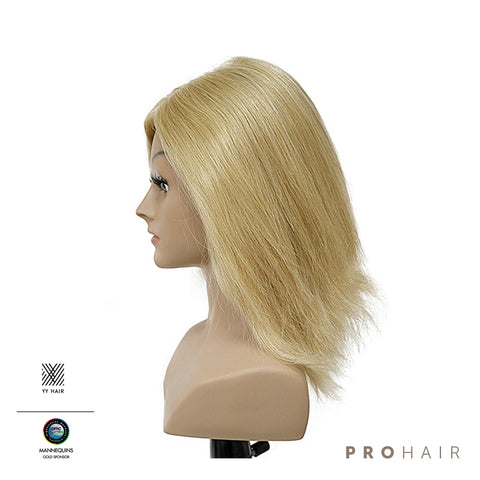 "30CM/12"" Luxury 100% Human Hair Mannequin Doll Head Training Hairdresser"