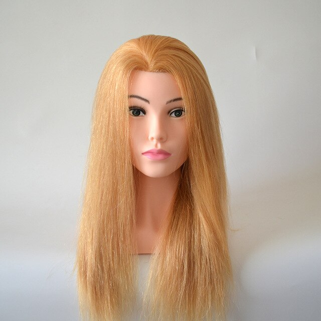 "Exclusive 100% Human Hair Professional Training Mannequin Head 24"" Sale"