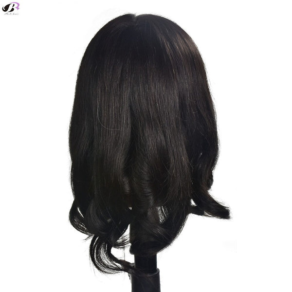"18"" Training Head Cosmetology Hairdressing Mannequin 100% Human Hair with Clamp"