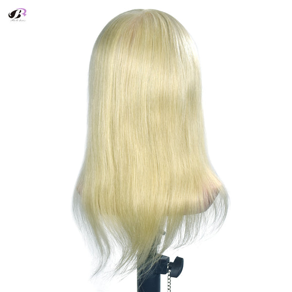 "14"" 100% Human Hair Mannequin Head Professional Training 35cm Mannequin Head With Real Hair"