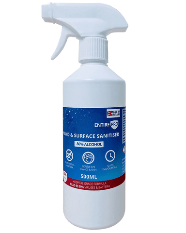 Alcohol 80% Hand & Surface Sanitiser 500ml