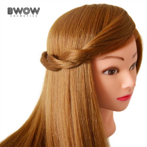 "18"" PROFESSIONAL TRAINING MANNEQUIN HEAD WITH 60% REAL HUMAN HAIR"
