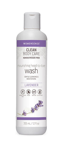 Womensense Clean Body Care Nourishing Head-To-Toe Wash - Lavender - 355ml - SALE*