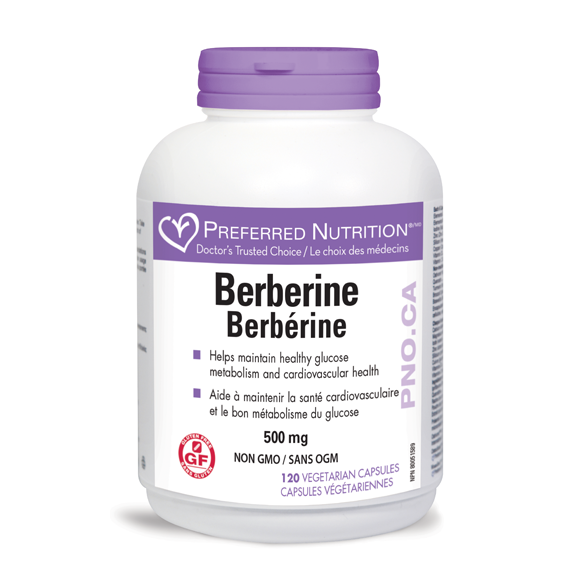 Preferred Nutrition Berberine 500mg, 120 Veg Capsules