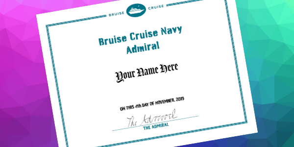 Bruise Cruise Navy: Purser