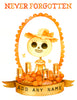 .New! CUSTOMIZABLE Day of the Dead Memorial Print (Female)- Personalize With Any Name!