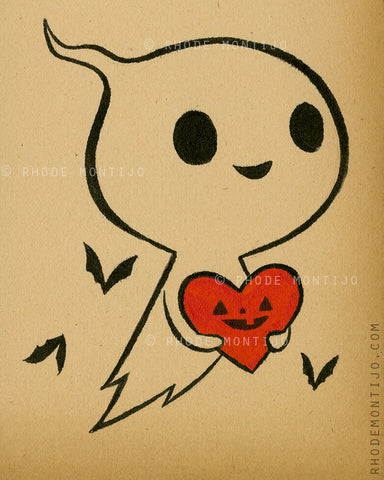 "8"" x 10"" Signed Print: VALENTINE GHOST"
