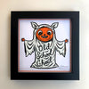 ".New! 6"" x 6"" Signed Glow-In-The-Dark Print: OLD SCHOOL GHOUL"