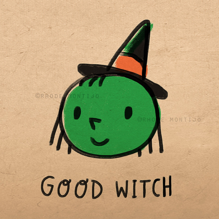 "8"" x 8"" Signed Print: GOOD WITCH"