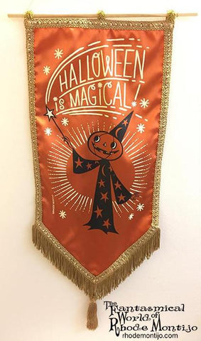 .New San Diego Comic Con 2017 Vintage Style Banner: HALLOWEEN IS MAGICAL!