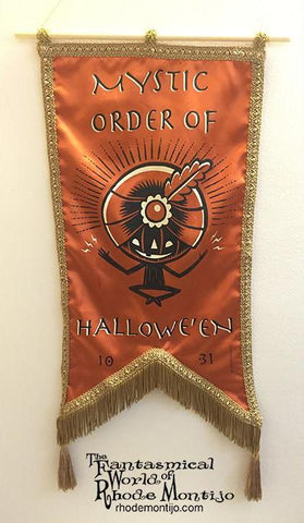 .New San Diego Comic Con 2017 Vintage Style Banner: MYSTIC ORDER OF HALLOWE'EN