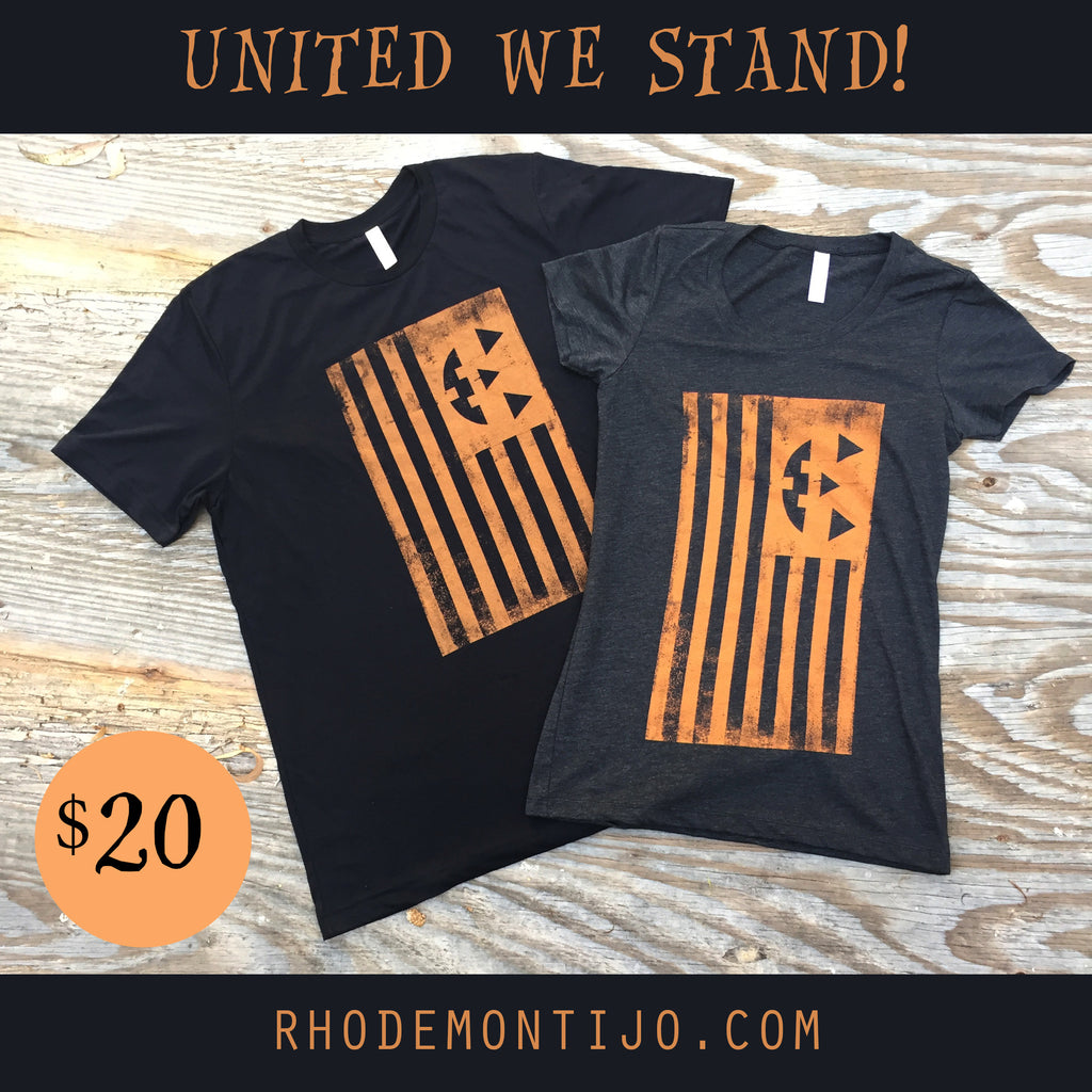 "T-Shirt: ""United"" HALLOWEEN FLAG by Rhode Montijo"