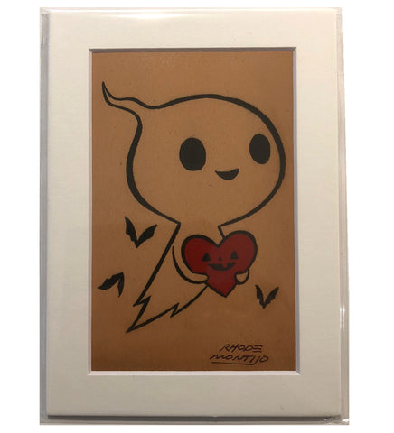 "5"" x 7"" inch signed print: VALENTINE GHOST"