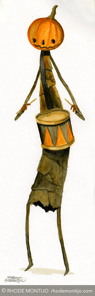 Signed Print: Orange and Black Jack- Drummer