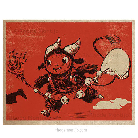 ".8x10 PRINT: ""Kid Krampus"""