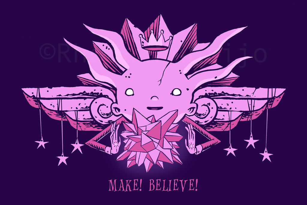 "12"" x 18"" Print:  MAKE! BELIEVE!"