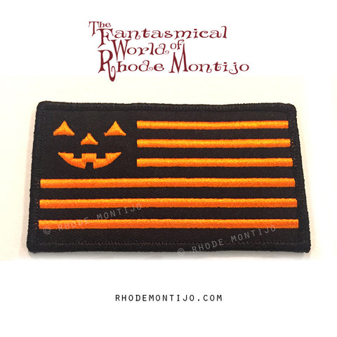 Embroidered Patch: UNITED Halloween Flag- REDUCED SHIPPING FOR PATCH ONLY ORDER