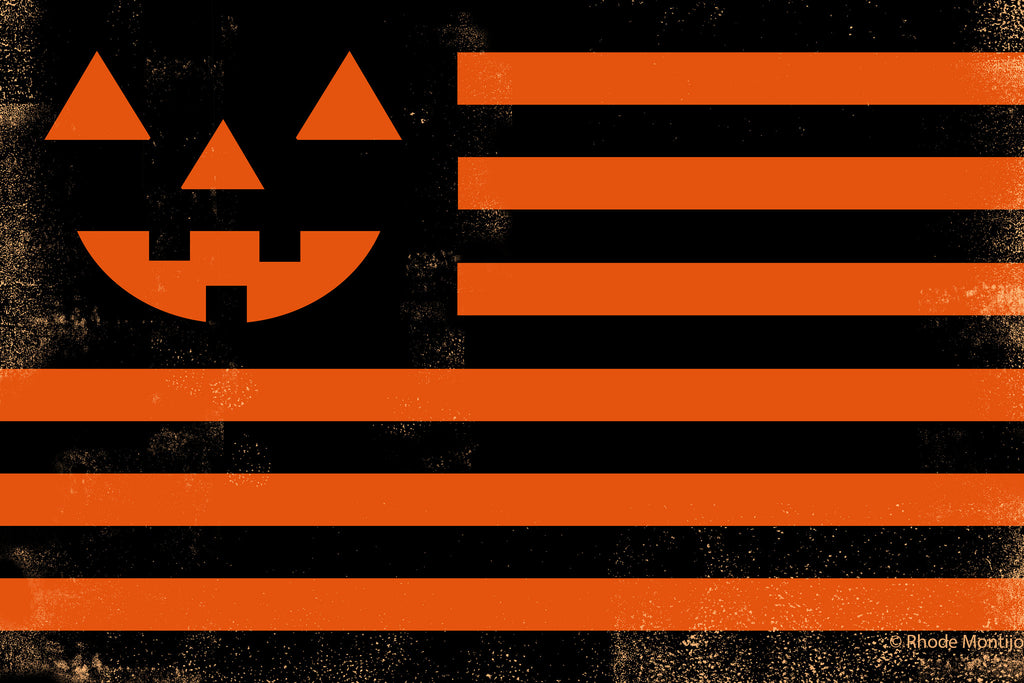 "12"" x 18"" Print: ""United"" HALLOWEEN FLAG"
