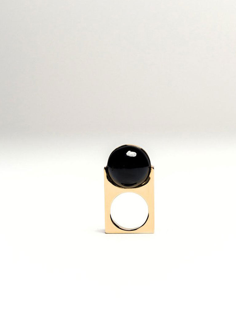 ARLEQUINO SPHERA RING BLACK