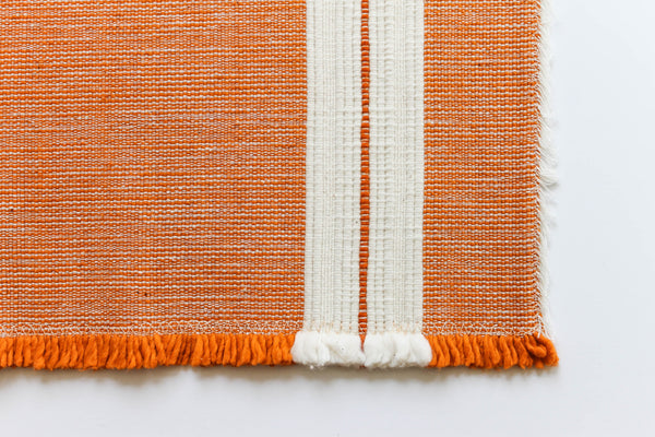 Spicy Orange Placemats, a pair