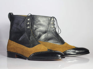 Bespoke Boots Ankle Boots Black Brown boots Men's Boots Stylish boots Casual Boots Dress Boots Lace Up boots handmade Leather Boots Hand panted Boots Ankle Boots out Fit Leather Suede Boots  Casual Boots Aldo Boots Leather Boots Suede Boot Party Boots