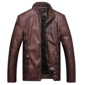 BESPOKESTOREs Brown / L COMLION Faux Leather Jackets
