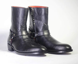 BESPOKESTORES Chelsea Boots Copy of Black Chelsea Ankle Leather Boots For Men's