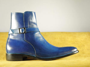 BESPOKESTORES Clothing, Shoes & Accessories:Men's Shoes:Boots Ankle High Monk Strap Leather Oxford Boot Men's Foot Wear